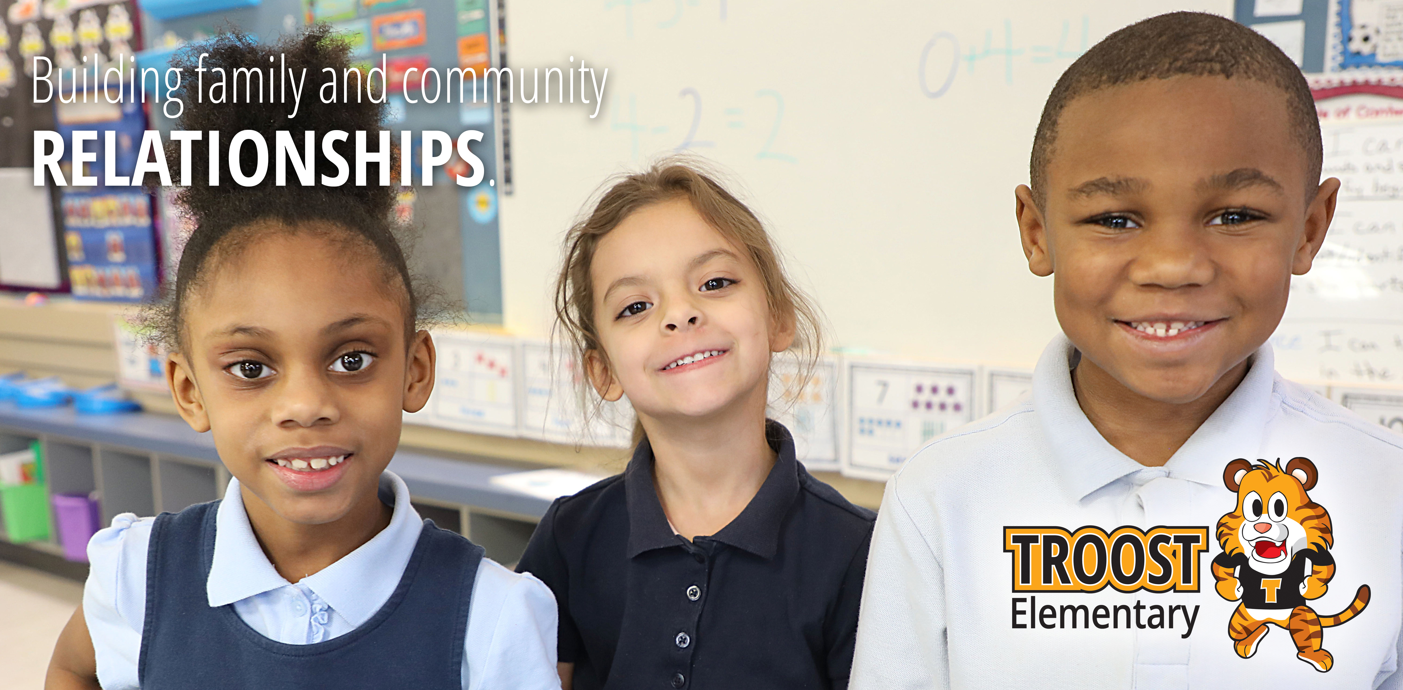 Troost kids with the tagline Building family and community relationships